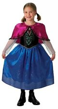 Disney Licensed Frozen Costume Anna Deluxe Costume Ages 6-8 Princess Child Girls