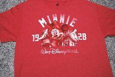 Disney Womens Minnie Mouse Walt Disney World t shirt Red Size Medium
