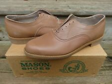NEW Mason Oxford Casual Dress Shoes Tan Sz 10 D NOS Leather Casual dress shoes