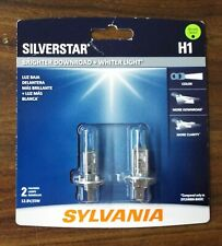 SYLVANIA H1 SilverStar High Performance Halogen Headlight Bulb, 2 Bulbs (NEW)