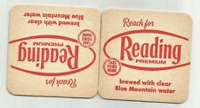 "Lot of 5 1960's =Reading Premium Beer Coasters-Reading, PA =049A ""Reach For"""