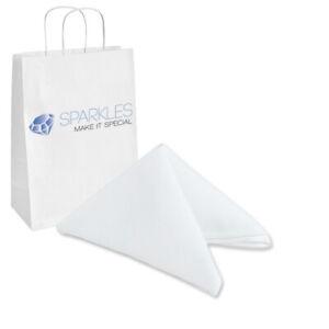 "200 pcs 17""x17"" inch Polyester Cloth Napkin - White - Wedding Linen dx"