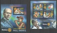 CA716 2013 CENTRAL AFRICA 145TH ANNIVERSARY PAUL HARRIS ROTARY INT. KB+BL MNH