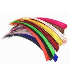 Single Ostrich Quill Spine Feather Stripped Hat Making Millinery Art Crafting UK