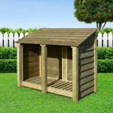 More details for cottesmore 4ft outdoor wooden log store ***clearance stock*** - uk hand made