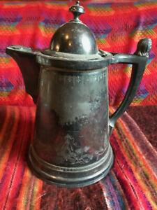 Unique Large Silver Plate Coffee Pot-Roger's Smith & Company-New Haven-#1702