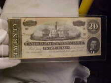 Authenic Confederate States of American $20 dated 1864