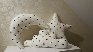 Nice star+moon+cloud 3xpillow in pack kids rooms nursery living room decor Cotto