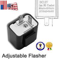 2-Pin Adjustable LED Flasher Relay Turn Signal Blinker Light 12V for Motorcycle