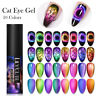 LILYCUTE 5ml Cat Eye Gel Nail Polish Soak Off Nail Art Gel Polish Colorful UV