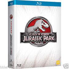 Blu-ray Jurassic Park Collection 4-Disc [English+Spanish+Portuguese] Region ALL