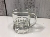 "Vintage Federal Shot Glass 2"" Mini Root Beer Mug Clear Good Used Condition"