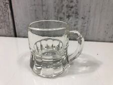"""Vintage Federal Shot Glass 2"""" Mini Root Beer Mug Clear Good Used Condition"""