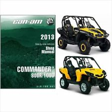 2013 Can-Am Commander 800R / 1000 Service , Parts & Owner's Manual on a CD