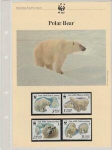WWF 1987 Polar Bear Russia set, FDCs & write up