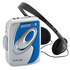 Craig CS2301A Personal AM/FM Stereo Radio/Cassette Player with Headphones