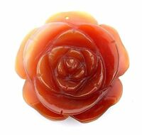 196 Carat 2 9/10 Inches Carved Carnelian Agate Rose Flower Carving Gemstone EC14