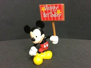 VINTAGE 90's Decopac Disney MICKEY MOUSE Holding HAPPY BIRTHDAY sign