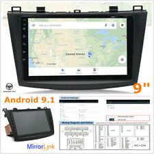 """9"""" Car Stero Android 9.1 Car Radio For MAZDA 3 2011-19 GPS Sat Nav WIFI USB Kit"""