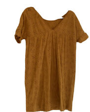 Asos Vestido blusón de gran tamaño Mostaza Talla 10