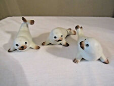 Homco Figurines Set of 3 Seals #1439