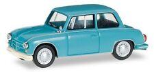AWZ P70 berline (1955) bleu turquoise - Herpa - Echelle 1/87 - HO