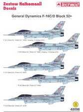 Techmod Decals 1/48 GENERAL DYNAMICS F-16 BLOCK 52+ Fighter