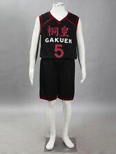 Kuroko no basuke Cosplay Touoh Gakuen Aomine Daiki #5 Jersey 1st Black Any Size