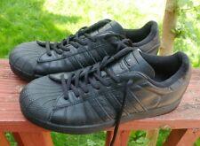 ADIDAS VINTAGE Originals SUPERSTAR 2 All Black Athletic Shoes Mens 7.5 EU 40.5