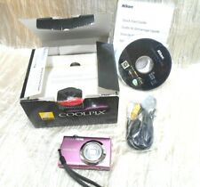 Nikon COOLPIX S4000 12.0MP Digital Camera - Pink (NO CHARGER)