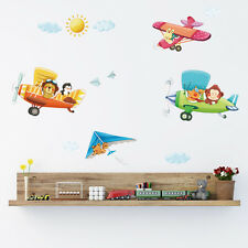 Decowall Animals Airplanes Nursery Kids Removable Wall Stickers Decal DA-1506B
