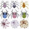 9-Style Halloween Jewelry Pin Brooch Party Gift Crystal Spider Brooch Favors Hot