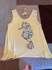 JUSTICE Tank Yellow Size 18/20