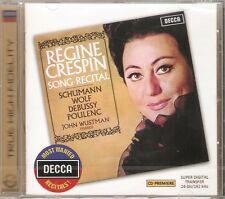 Regine Crespin - Song Recital NEW CD Schumann Wolf Debussy Poulenc
