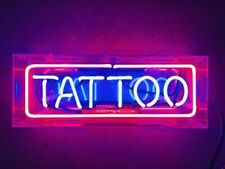 "New Tattoo Neon Sign Lamp Light 14"" Acrylic Box Beer Bar Glass With Dimmer"