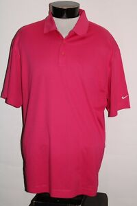 NIKE GOLF Mens XL X-Large Pink Dri-Fit Polo shirt Combine ship Discount