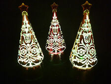 Hallmark Gift Bags Set of 3 Christmas Tree Lighted Snow Globes Swirlg Glittr NEW