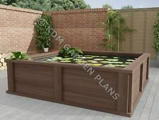 More details for woodwork plans for raised wooden garden pond 2.4x2.4m (plans only by email)