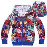 Girl/Boy's Pokemon Go Hoodies Sweater Zipper Hooded Jumper Shirts Top 4-12Years