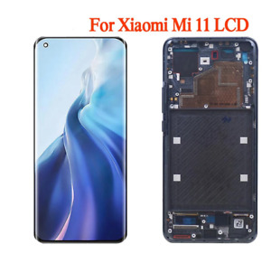 AMOLED LCD Display Touch Screen Digitizer Replacement Frame For Xiaomi Mi 11 OEM