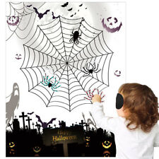 Pin the Spider on the Web - Halloween Kids Party Game - Vampire Witch Ghost