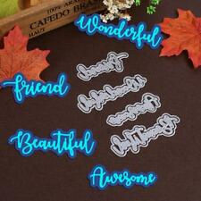 4pcs Metal Cutting Dies DIY Art Word Embossing Paper Card Cutter Stencils Gifts