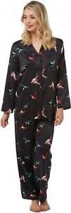 Camille Womens Nightwear Full Length Printed Geo Print Pyjama Set