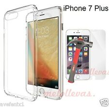 Funda para iPhone 7 Plus + Protector Vidrio cristal Gel Transparente