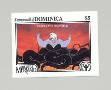 Dominica #1355 Disney, Little Mermaid, Ursula the Sea Witch 1v Imperf Proof