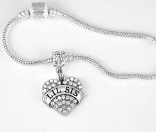 Lil Sis Bracelet Little Sister Gift  Lil Sis Bangle Sisters Present Sis charm