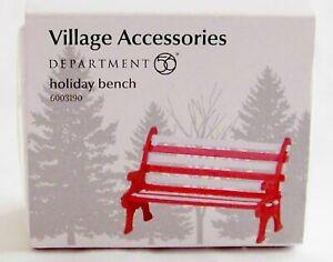 Dept 56 Village Accessories Holiday Bench 6003190