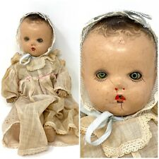 "14"" ANTIQUE COMPOSITION/CLOTH BABY DOLL BY HORSMAN, TIN EYES"