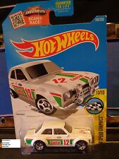 HOT WHEELS 2016 #185 -2 70 FORD ESCORT RS1600 WHIT AMER GRAPHICS