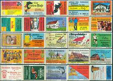 25 alte Gasthaus-Streichholzetiketten aus Deutschland #905
